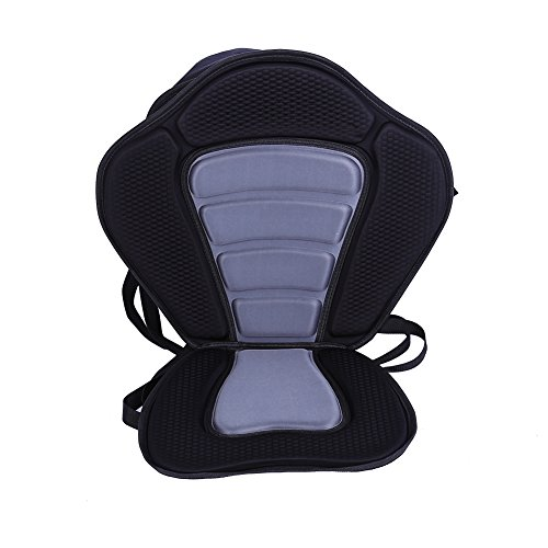 - Yosoo Luxury Adjustable Padded Kayak Seat+Detachable Canoe Backrest Back Bag Seat