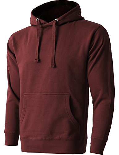 Burgundy Pullover Hoody (Hat and Beyond HC Mens Pullover Hoodie Sweatshirts (Medium/hc09_Burgundy))