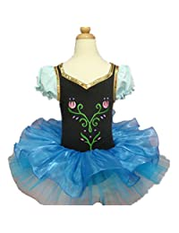 Kids Girl Ballet Dance Dress 3-8 Years Short Sleeve