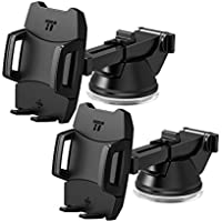 Car Phone Holder, TaoTronics Car Mount with One-button Rear Release - 2 Pack