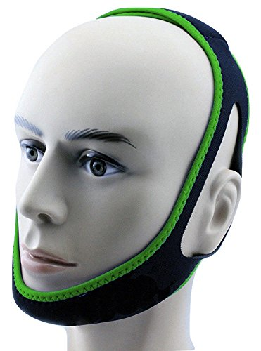 Anti Snore Chin Strap by NONPAREIL - Quieter Nights for Mouth Breathers and Their Companions, Lucky Green (Regular 27')
