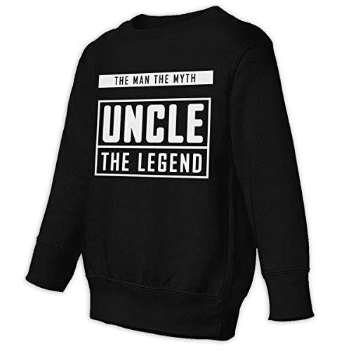 Xgbb The Man The Myth The Legend Uncle Toddler Long Sleeve Pullover Sweatshirt Little Boys' Sweatshirt Black 2T