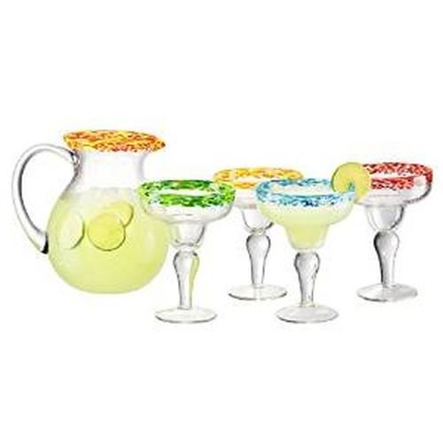 Serve the best ever margarita recipe: Peach & Cherry Beer Margarita from an Artland 5 Piece Mingle Margarita Glass set