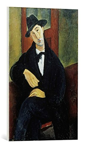 kunst für alle Canvas Print: Amedeo Modigliani Mario Fine Art Print, Canvas on Stretcher, Ready to Hang Wall Picture, 17.7x27.6 inch / 45x70 cm (Big & Tall Londons Menswear London On)