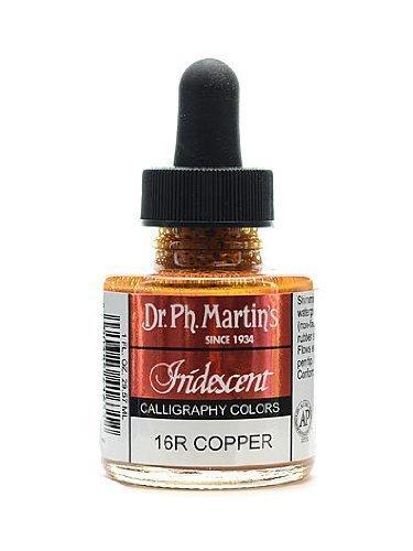 Dr. Ph. Martin's Iridescent Calligraphy Color, 1.0 oz, Copper (400070-16R)