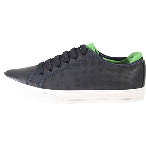 Hugo Boss Mens Attitude Trainers Sneakers Shoes Dark Blue lnLx1TFTh
