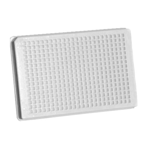 Whatman 7701-2100 Black Polystyrene 384 Wells Uniplate Collection and Analysis Microplate with Flat Well Bottom, 100microliter Volume (Case of 50)