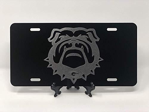 maitongzaix UGA Georgia Bulldog Logo Car Tag on Aluminum License Plate ()