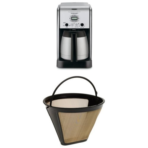 Cuisinart DCC-2750 Extreme Brew 10-Cup Thermal Programmable Coffeemaker and Filter Bundle - Cuisinart Programmable Filter