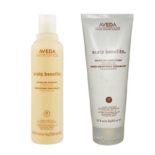 Aveda Scalp Benefits Balancing Shampoo 8.5 oz and Conditioner 6.7 oz Duo (Best Solution For Dry Scalp)
