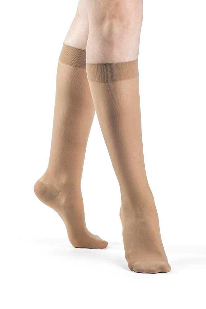 SIGVARIS Women's Style Sheer 780 Closed Toe Calf-High Socks 15-20mmHg by Sigvaris