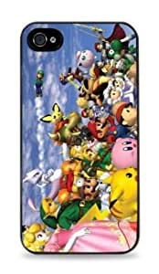 Super Smash Brothers Apple iPhone 4 / 4S Silicone Case - Black - 339