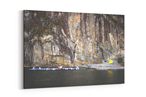 Pier Mountain Norway and Fjord in Bergen Norway - Canvas Wall Art Gallery Wrapped 26