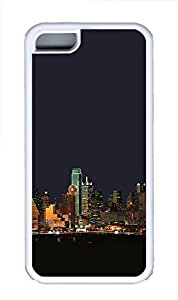 iPhone 4s Case Dallas Texas Night Skyline TPU iPhone 4s Case Cover White