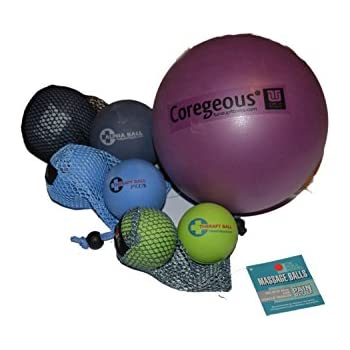 Yoga Tune Up Set of Various Ball Sizes and Colors - original tune up balls, PLUS balls, ALPHA TWINS set and Corgeous Ball