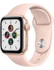 Apple Series SE Silicone Watch with GPS and Retina Display, 40 mm - Pink Sand