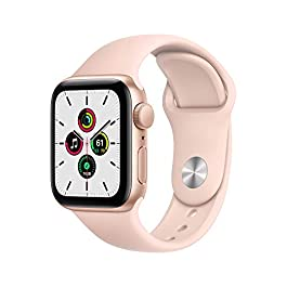 New Apple Watch SE (GPS, 40mm) – Gold Aluminum Case with Pink Sand Sport Band
