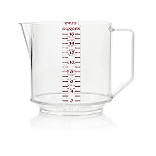 Arrow Home Products Two Cup Measure, Clear with Read Engraved Graduates
