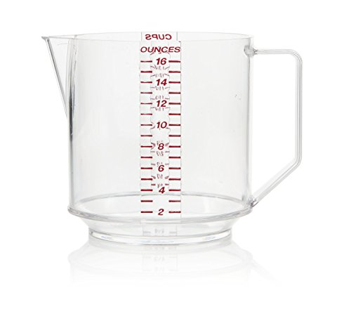 Arrow Home Products 00029 Two Cup Measure, Clear with Read Engraved (16 Ounce Measuring Cup)