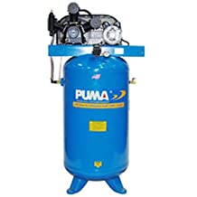 Puma Industries TE-5040V Air Compressor, Professional/Commercial/Industrial Two Stage Belt Drive Series, 5 hp Running, 175 Maximum psi, 230/1V/Phase, 40 gal, 280 lb.
