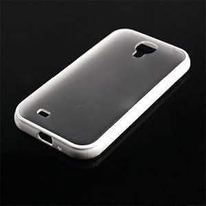 QD 1/8 Colors TPU Bumper Matte Clear Hard Case Cover For Samsung Galaxy S4 i9500 (White)