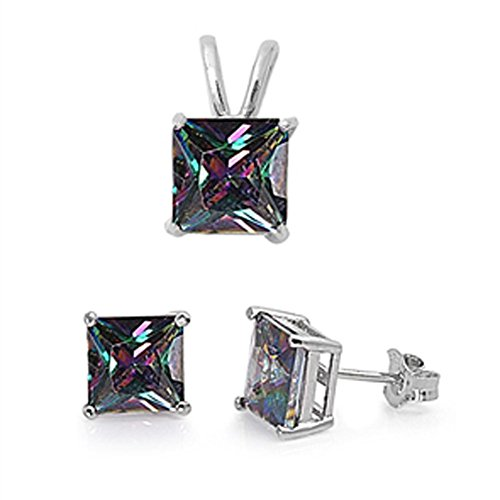 oval imperial topaz stud earrings - 7
