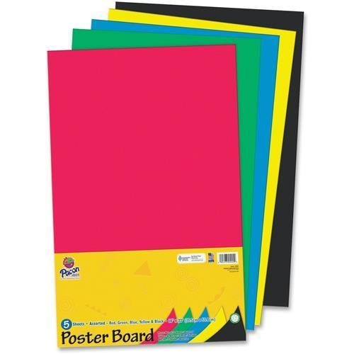 Pacon 5445 Poster Board, Assorted Colors