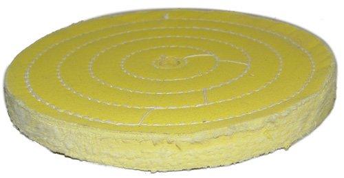 "Magnate TSS085034 Treated Muslin Buffing Wheel - 8"" Diameter"