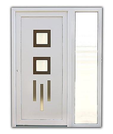 Haustür weiß mit seitenteil  Haustür Kunststoff Modell Sophie in weiß Inkl. 1 Seitenteil ...