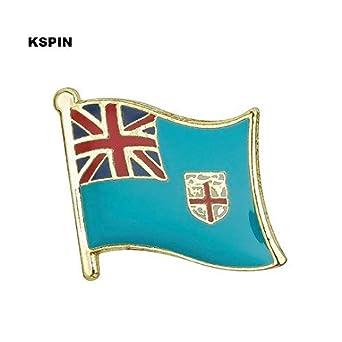 Amazon Com Fiji Flag Lapel Pin 19 X 16mm Hat Tie Tack Badge