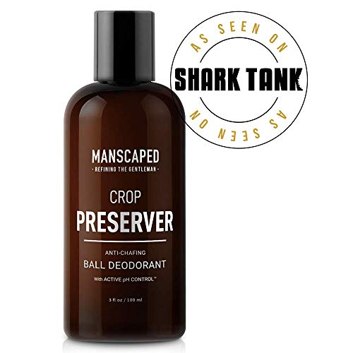 - Manscaped Men's Ball Deodorant, Male Care Hygiene Moisturizer, The Crop Preserver, Anti-Chafing Groin Protection With Active pH Control and Cooling Aloe Vera Deodorant