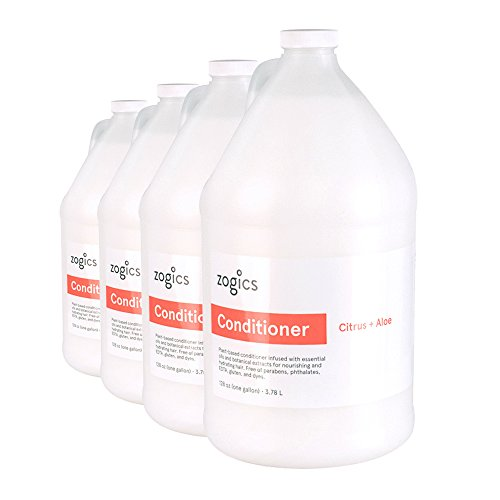 Zogics Conditioner, Citrus + Aloe Scented Conditioner (4 Gallons/Case)