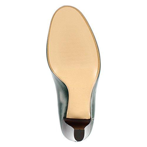 Evita Shoes Maria Damen Pumps Glattleder Dunkelgrün