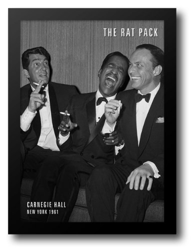The Rat Pack 20x24 Framed Art (Rat Pack Framed)