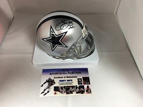 Emmitt Smith Autographed Signed Cowboys Mini Helmet GTSM COA & Emmitt Personal (Emmitt Smith Autograph)