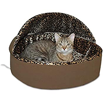 K&H PET PRODUCTS Thermo-Kitty Deluxe Hooded Cat Bed, Large 20