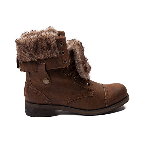 Madden Girl Womens Destinn Combat Boot