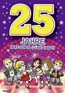 lustige Geburtstagskarte zum 25.: Amazon.de: Küche & Haushalt
