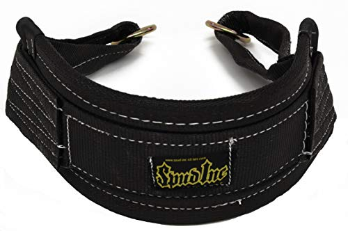 POWER GUIDANCE Weight Lifting Belt, 4inch Wide, Genuine Leather, Ideal for Deadlift, Squat, Powerlifting, Weightlifting Workout, Firm Comfortable Lower Back Support