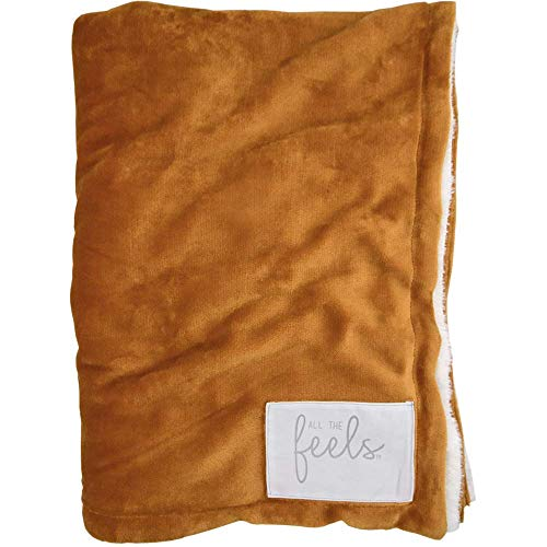 - All the Feels | Premium Reversible Blanket | Throw | Honey Ginger | You Buy One-We Give One | Super Soft Cozy Blanket | Machine Washable