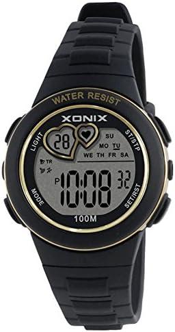 [子]デジタルストップウォッチ、LED 100 M防水24時間と12-hourシステム光カレンダー多機能学生デジタルwatches-e