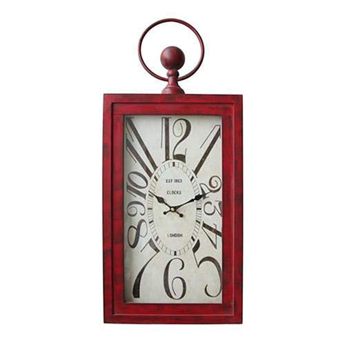 Yosemite Home Decor Waverly Red Wall Clock in Red and White