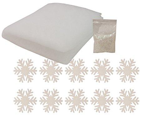 Brauns Heitmann 81408 Winter-Deko-Set Schneewatte, Schneeflocken und Kunstschnee