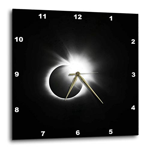3dRose Stamp City - Astronomy - Photograph of The 2017 Solar Eclipse. Capture of The Diamond Ring. - 15x15 Wall Clock (DPP_290787_3) by 3dRose