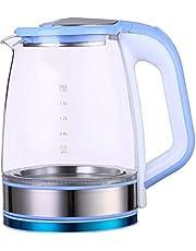غلاية كهربائية زجاج من فلامنجوFM-4003 - 2.2 لتر، ازرق