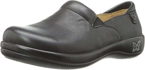Alegria Keli Womens Professional Shoe Black Nappa Leather 12 W US (Black Nappa Leather Footwear)
