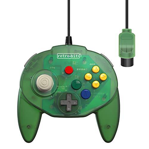Retro-Bit Tribute 64 Controller for Nintendo 64 - Original Port - (Forest Green)