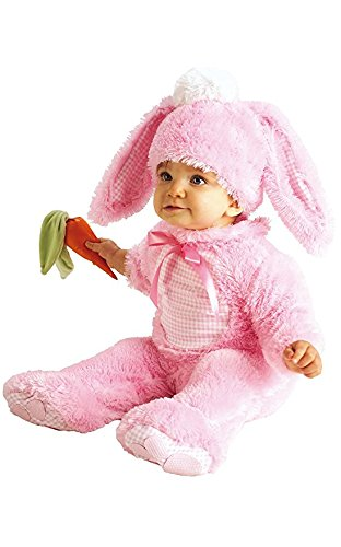 Pink Bunny Costume with Carrot Rattle - Rubies (0-6 (Halloween Costumes For Infants 3-6 Months)