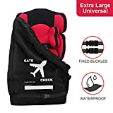 Bable Car Seat Travel Bag - Gate Check Bag for Air Travel - Increased Size Compatible with Most Name Brand Car Seats Makes Travel Easier & Saves Money - Isolate Germs & Damages from Car Seat