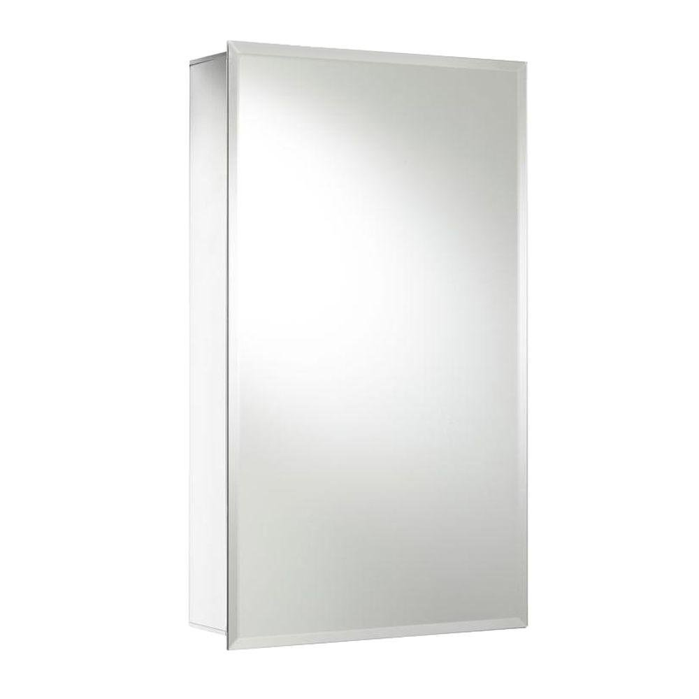 Croydex Medina 26-Inch x 15-Inch Recessed or Surface Mount Medicine Cabinet with Hang 'N' Lock Fitting System, Aluminum
